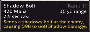 Shadow Bolt Tooltip